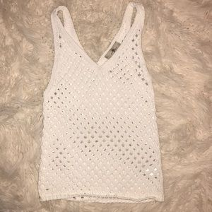 7 for all mankind crochet top